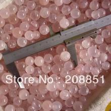 100 шт крошечные натуральные стразы из розового кварца насадка шар заживление 13 мм-15 мм