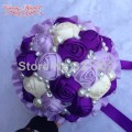 European And American Brides Holding Flowers Wedding Flowers Ornament Pearl Ribbon Wedding Bouquet De Novia Bridal Bouquets YJ05