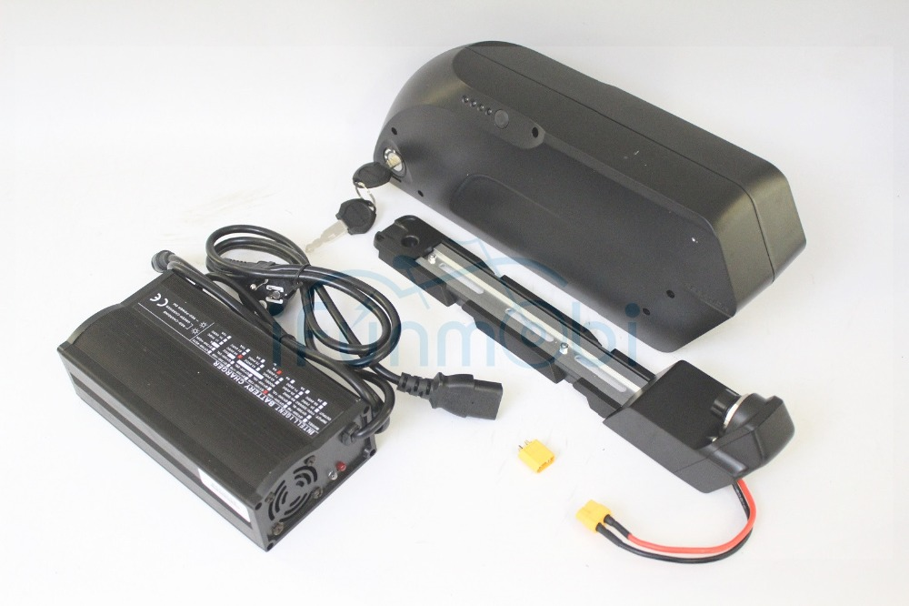 Тигровая Акула Электрический велосипед Ebike 36 В 17.4ah Подпушка трубка литиевая Батарея 3.7 В 18650 ячейки с bms + 5A зарядное устройство + USB для зарядк