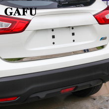 цена на Car Accessories For Nissan Qashqai j11 2015 2016 2017 2018 2019 Door Sticker Stainless Steel back door Tailgate Trim Car Sticker