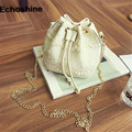 New Arrival Lace Bucket Handbag Ladies Solid Shoulder Bags Tote Purse Satchel Bag Cross Body women messenger bags vintage 2016