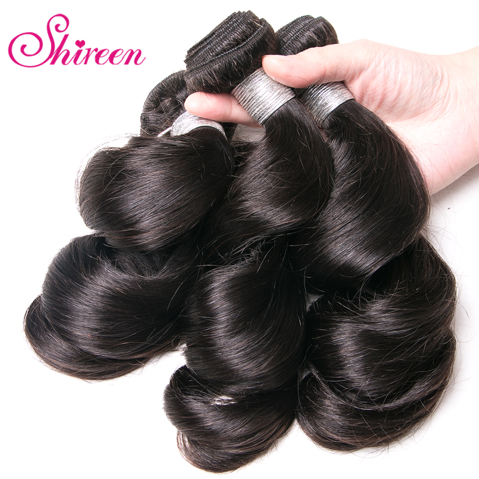 Shireen Loose Wave Brazilian Hair Weave Bundles 100% Human Hair 1 Piece 8-28inch non Remy Hair Extension No Tangle Can be Dye