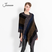 f6bbbdd5f 2018 New Fashion Cotton Winter Scarf Women Soft Wool knitted Pashmina Warm  Striped tassel Shawls female