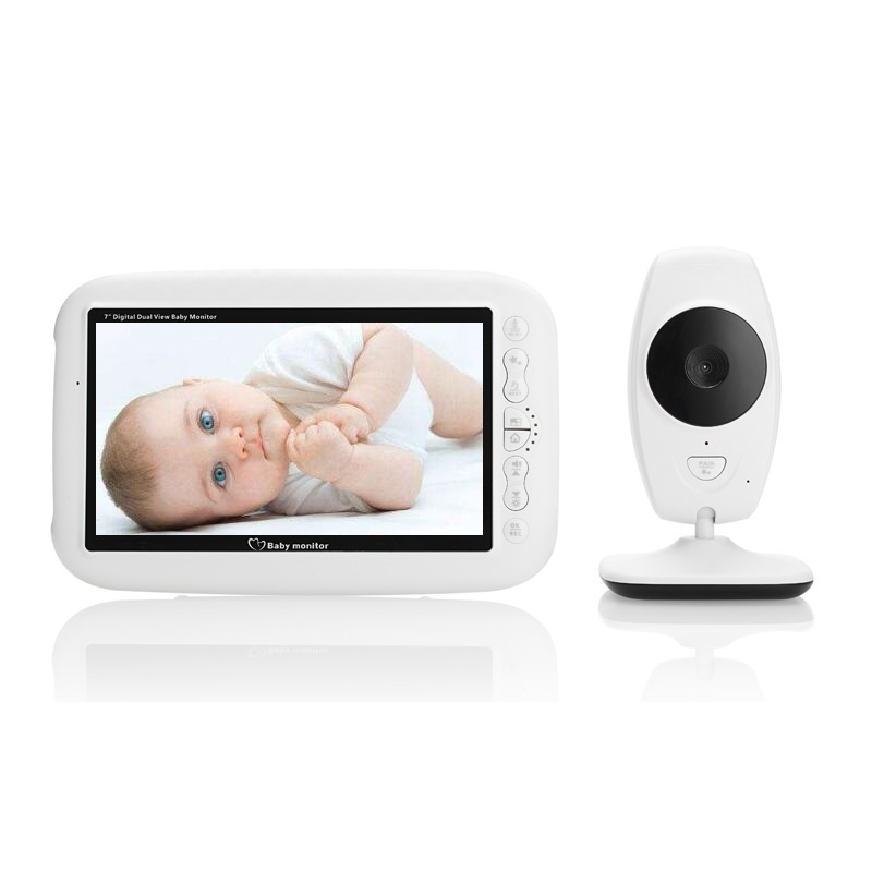 Video nanny baby monitor lcd 7.0 inch IR Night vision Intercom 4 Lullabies Temperature monitor video baby monitor wireless nanny