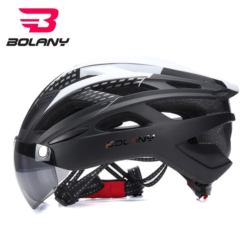 Bolany 2018 Light Cycling Helmet Bike Lens Ultralight Mountain Road Bicycle MTB Winddicht Helmet Safe For Men Women 57-61CM