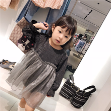 2018 Autumn and Winter New Korean Fashion Comfortable Girl Baby Dress with  Organza Stitching Fluffy Fairy Princess Girl Dress 2d21e3ec3f90