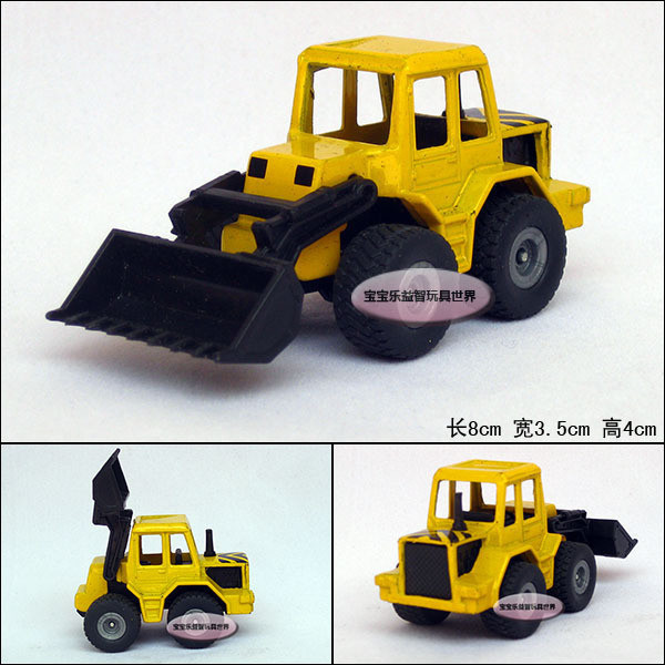 yellow bulldozer angledozer delicate baby alloy car model free air mail