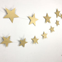 Bright Long Paper Garland with Stars