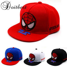 Doitbest 3-8 Y Lente Kinderen Hiphop Baseball Cap Cartoon spiderman zomer kids Zonnehoed Jongens Meisjes Gorras snapback Caps(China)