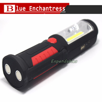 New Multifunction USB Charging LED Flashlight Outdoor Work Stand Light Magnetic HOOK Mobile Power For Your