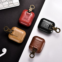 Leather Case For Apple Airpods Airpod Earphone Accessories Dust proof Retro Protective Cover Bluetooth Headphone Case Waterproof