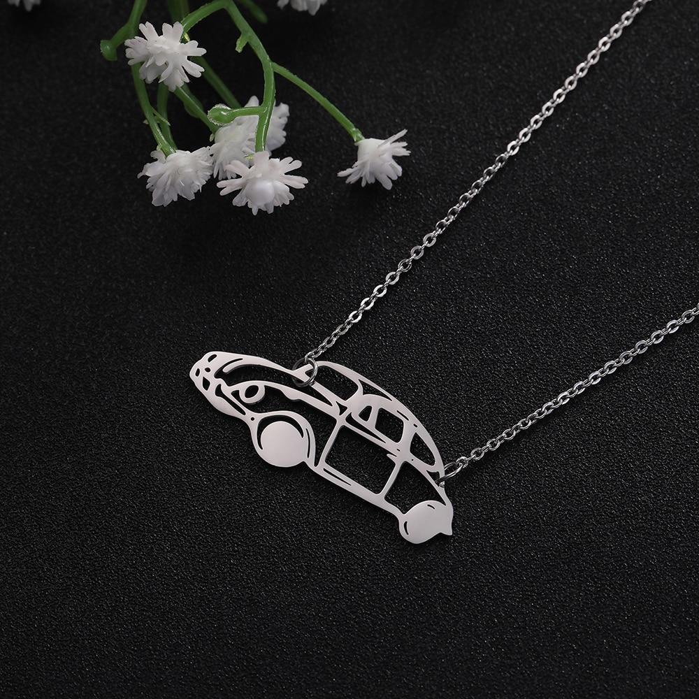 My Shape hollow car pattern decorative pendant necklace custom men and women