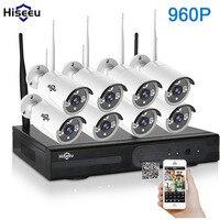 Hiseeu 960P 8CH HD CCTV System 1TB Wireless NVR Kit Outdoor IR Night Vision IP Camera