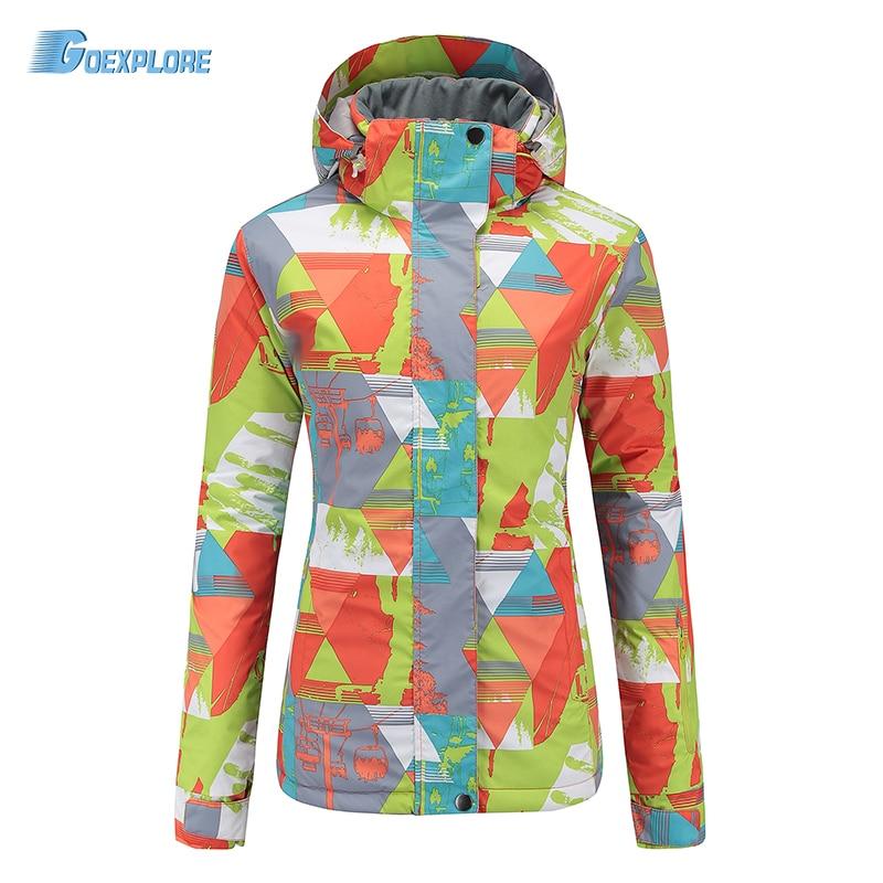Goexplore Skiing Jacket Female Winter Thermal Waterproof Outdoor hiking Sports Coats Thicken Snow snowboard Jackets for Women стоимость