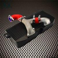 Топ крепление форсированных интеркулер + Y трубы комплект подходит для Subaru 02 07 WRX STI EJ20 EJ25 GD красный /синий/черный