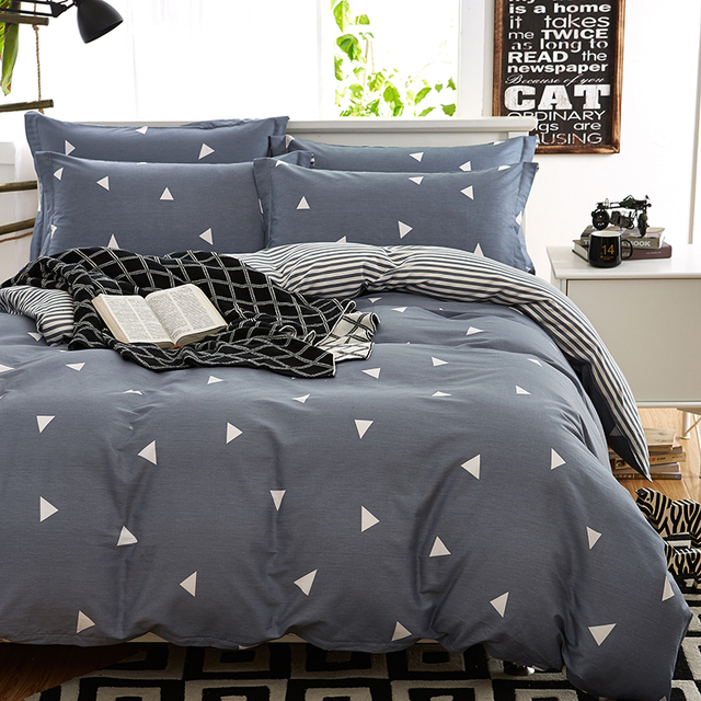 100% Cotton Duvet Cover Bed Set Geometric Bedding Sets Comforter Sets Twin  Queen King Size