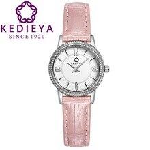 Kedieya часы наручные часы женщины кожаный ремешок элегантный пирамида шатона кварцевые часы наручные часы для женщин