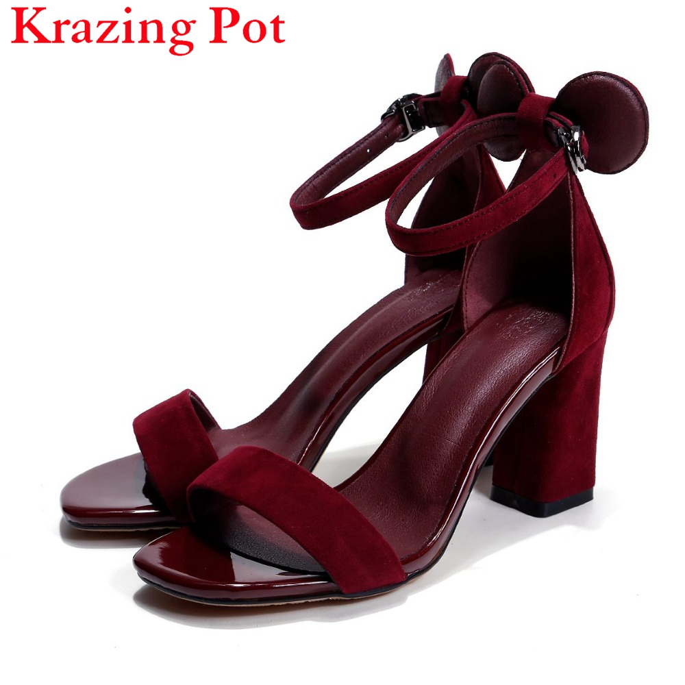 2017 Fashion Lovely Peep Toe Ankle Straps Concise Women Sandals High Heels Solid Summer Office Lady Large Size Runway Shoes L92 стоимость