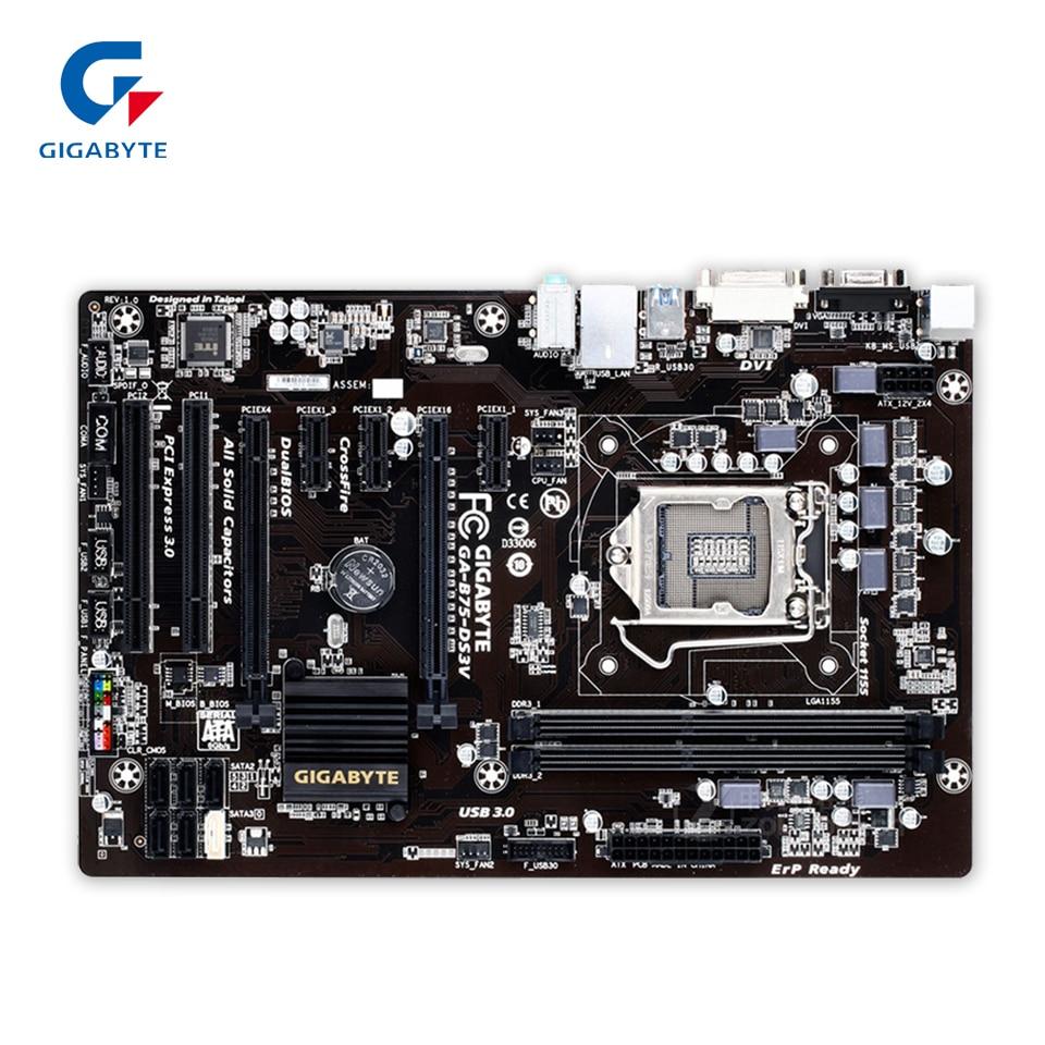 Gigabyte GA-B75-DS3V Original Used Desktop Motherboard B75-DS3V B75 LGA 1155 i3 i5 i7 DDR3 16G ATX пленка тонировочная mtf original 5% 0 75 м х 3 м