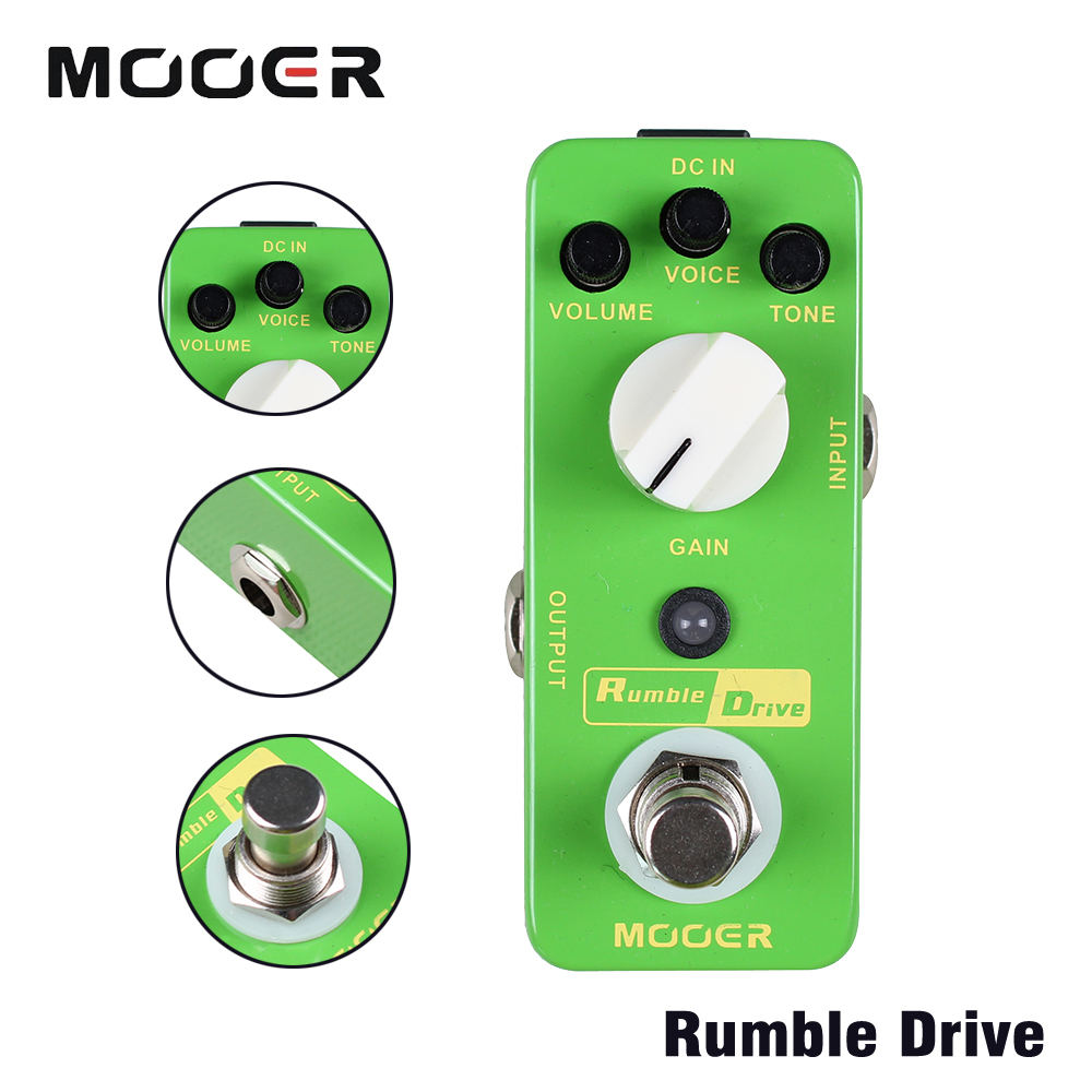 Mooer Rumble Drive Full Metal Shell Round and Smooth Overdrive Tone Guitar Effects Pedal wacken metal overdrive
