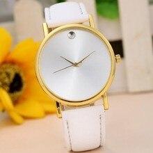 New 2016 Watch Famous Brand Geneva Cheap Unisex Watch Men Wristwatches Women Wristwatch Fashion Wrist Leather Strap Quartz Watch