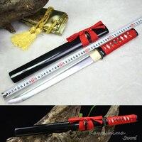 Японский Samurai Sword Wakizashi/Tanto  ручная работа  Высокоуглеродистая сталь  полная четкость  готовая для резки бумаги