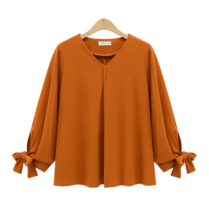 New design plus size woman clothing lady loose casual long sleeves blouse shirt for 50-100kg femme