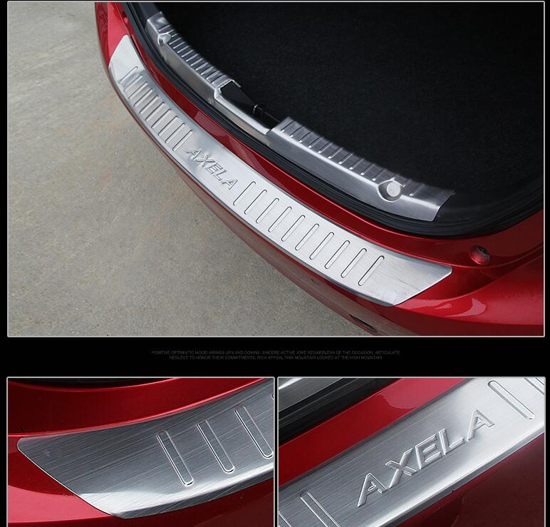 Car styling High quality!stainless steel for Mazda3 Axela 2014 inner rear bumper guard plate for 2014 luxgen large 7 high quality stainless steel rear bumper guard