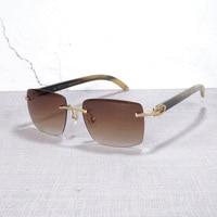 Vintage Buffalo Horn Glasses for Men Sun Glasses for Male Red Sunglasses for Women High Quality Square Sunglasses for Travelling