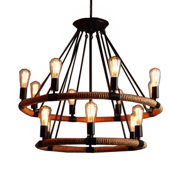 Retro industrial wind twine Pendant Lights restaurant clothing store restaurant personality lamp creative bar lamp WF4231008