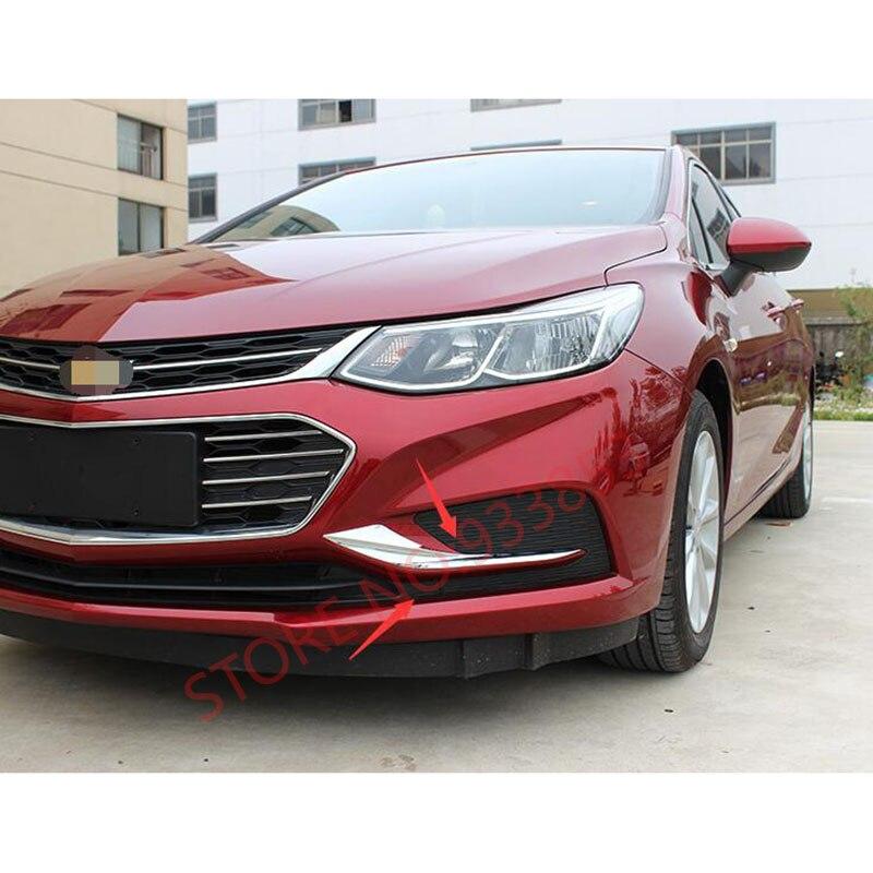 Car ABS Chrome Front Fog Light Lamp Cover Trim For Cruze