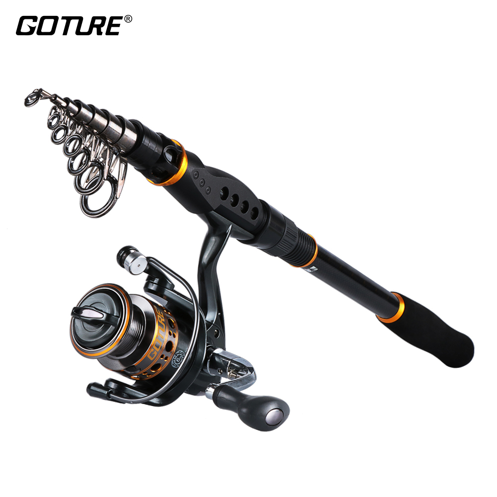 Goture Fishing Reel Rod Combo 2 1M 2 4M 2 7M 3 0M 3 6M Telescopic