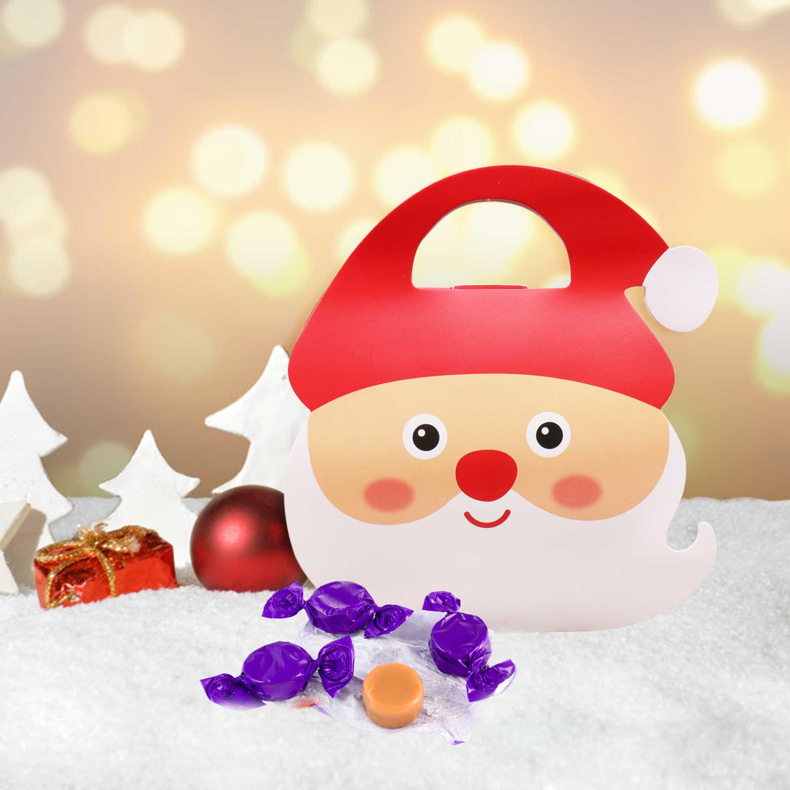 Pcs New 8 10x18x19.5 centímetros Caixa de Doces de Natal Alce Saco Pacote de Presente de Papai Noel das Crianças caixas de presente para a Festa de Natal Decoração