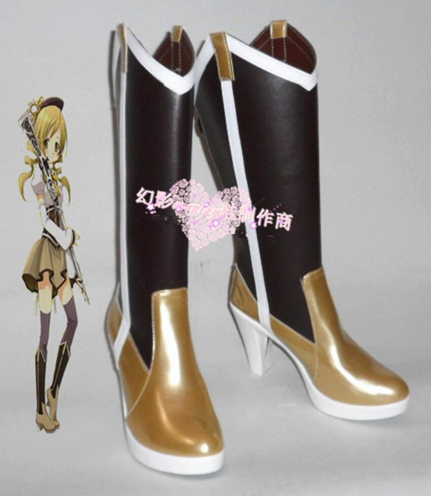 New Arrival Puella Magi Madoka Magica Mami Tomoe Cosplay Boots Shoes For Cosplay Event Halloween