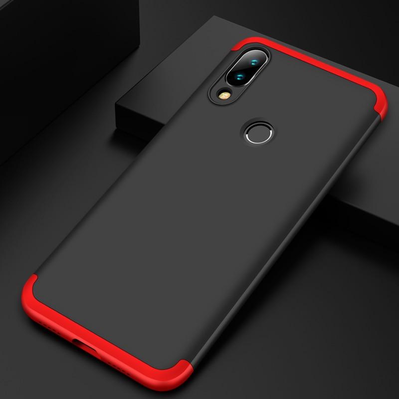 3-in-1 Plastic Hard 360 Tempered Glass + Case for Xiaomi Redmi Note 7 Anti-Shock Back Cover Case for Xiaomi Redmi Note 7 Pro 7A