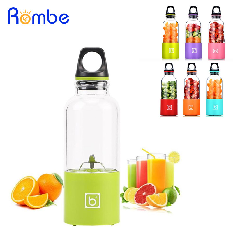 500ML Portable Electric Juicer Cup USB Rechargeable Smoothie Blender Squeezers Fruit Juicer Machine Baby Food Mills Mixer