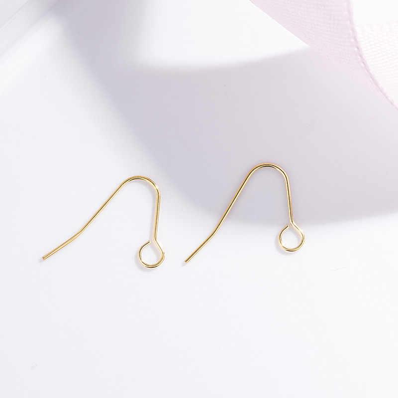 20 pcs/lot fils d'oreilles or argent en forme de V boucles d'oreilles crochet pour bijoux à bricoler soi-même boucle d'oreille accessoires de fabrication kolczyki Simple fait à la main en métal