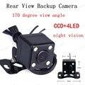 [High Quality] 170 graus de ângulo de visão CCD + 4LED de Backup Câmera de Visão Traseira Do Carro À Prova D' Água câmera de visão noturna