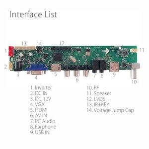 Image 2 - M53V5.1 LCD universale LED TV Controller Driver Board Kit TV/PC/VGA/HDMI/USB interfaccia matrice T56 supporto russo V53RUUL Z1