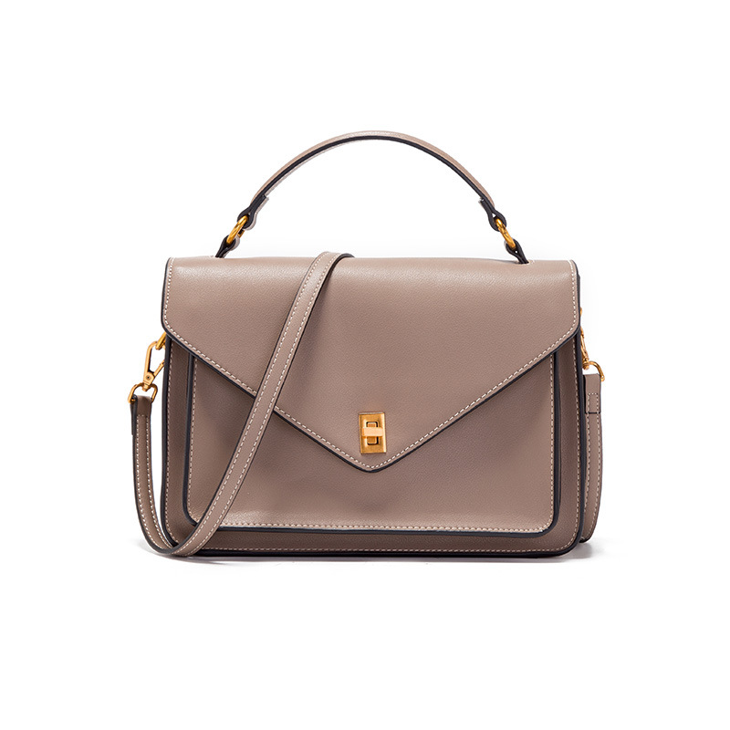 New Fashion Genuine Leather Women's Satchels Bag Leisure Shoulder Bag Classic Crossbody bag Solid Color Top-Handle Bag #JZL6210 недорого