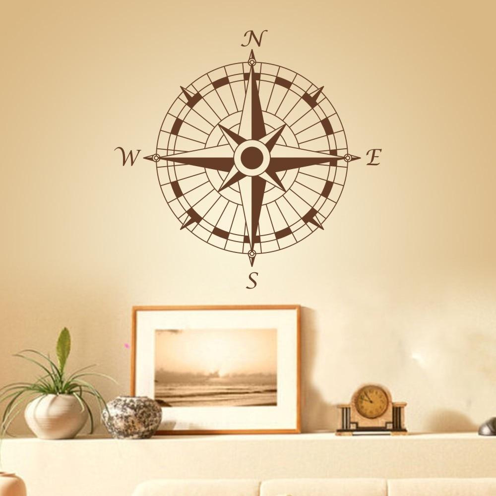 Nautical Compass Wall Decal office Vinyl Wall Sticker Art Graphic set sail  Living room decoration Wall Decor mural 32