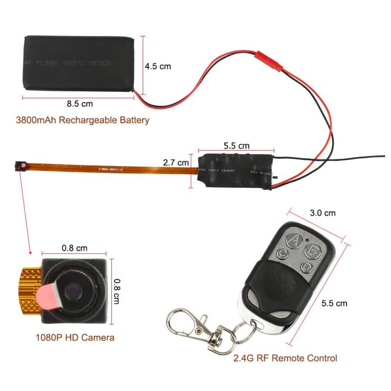 Mini DIY camera 1080P small camera video voice dvr recording device motion detection kamera mini camcorder with remote control