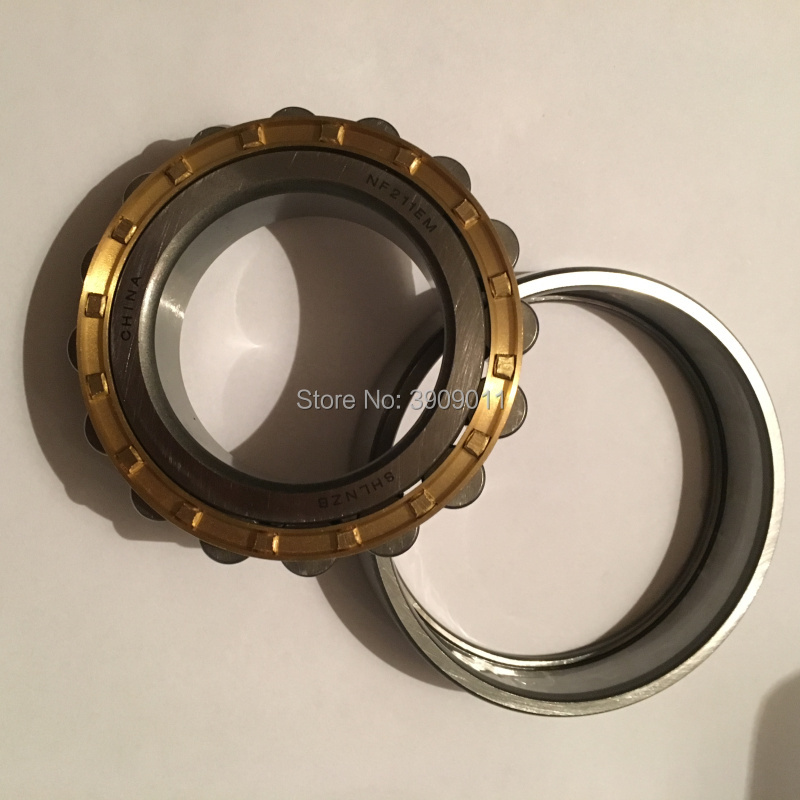 SHLNZB Bearing 1Pcs NF222 NF222E NF222M C3 NF222EM NF222ECM 110*200*38mm Brass Cage Cylindrical Roller Bearings shlnzb bearing 1pcs nu1032 nu1032e nu1032m nu1032em nu1032ecm 160 240 38mm brass cage cylindrical roller bearings
