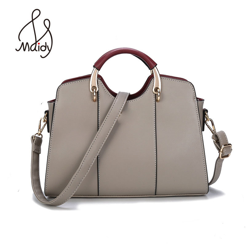 Casual Luxury <font><b>Haut</b></font> Ton Woman Tote Messenger Pu Leather Shoulder Bags Pochette Crossbody Designer <font><b>Handbags</b></font> High Quality Maidy