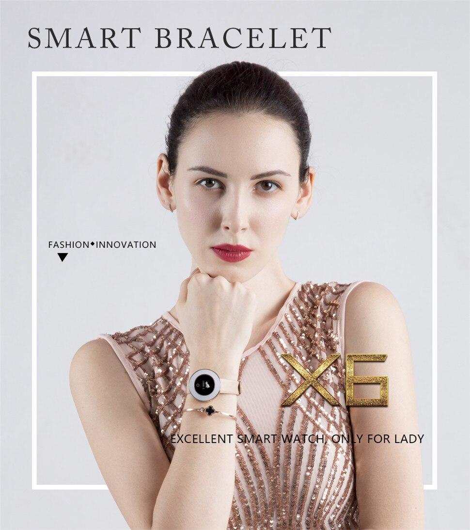 YKSO IP68 Waterproof Smart Bracelet Pedometer X6 Fitness bracelet Sleep Heart Rate Monitor Smart Bracelet (2)