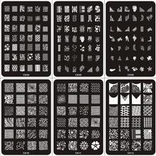 24PCS 14.5*9.5CM Fashion Designs DIY Polish Beauty Nail Art Image Stamping Plates 3D Nail Art Templates Stencils Manicure Tools