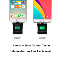 LCD Digital Alcohol Detector Backlit Audible Alert Box Breathalyzer Portable Inflatable Alcohol Tester 2 IN 1