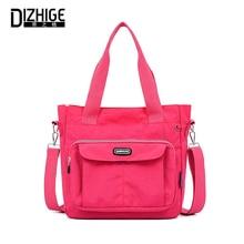 DIZHIGE Brand Lage Capacity Waterproof Nylon Women Handbag High Quality Crossbody Bags For Solid Multi-pocket Shoulder Bag