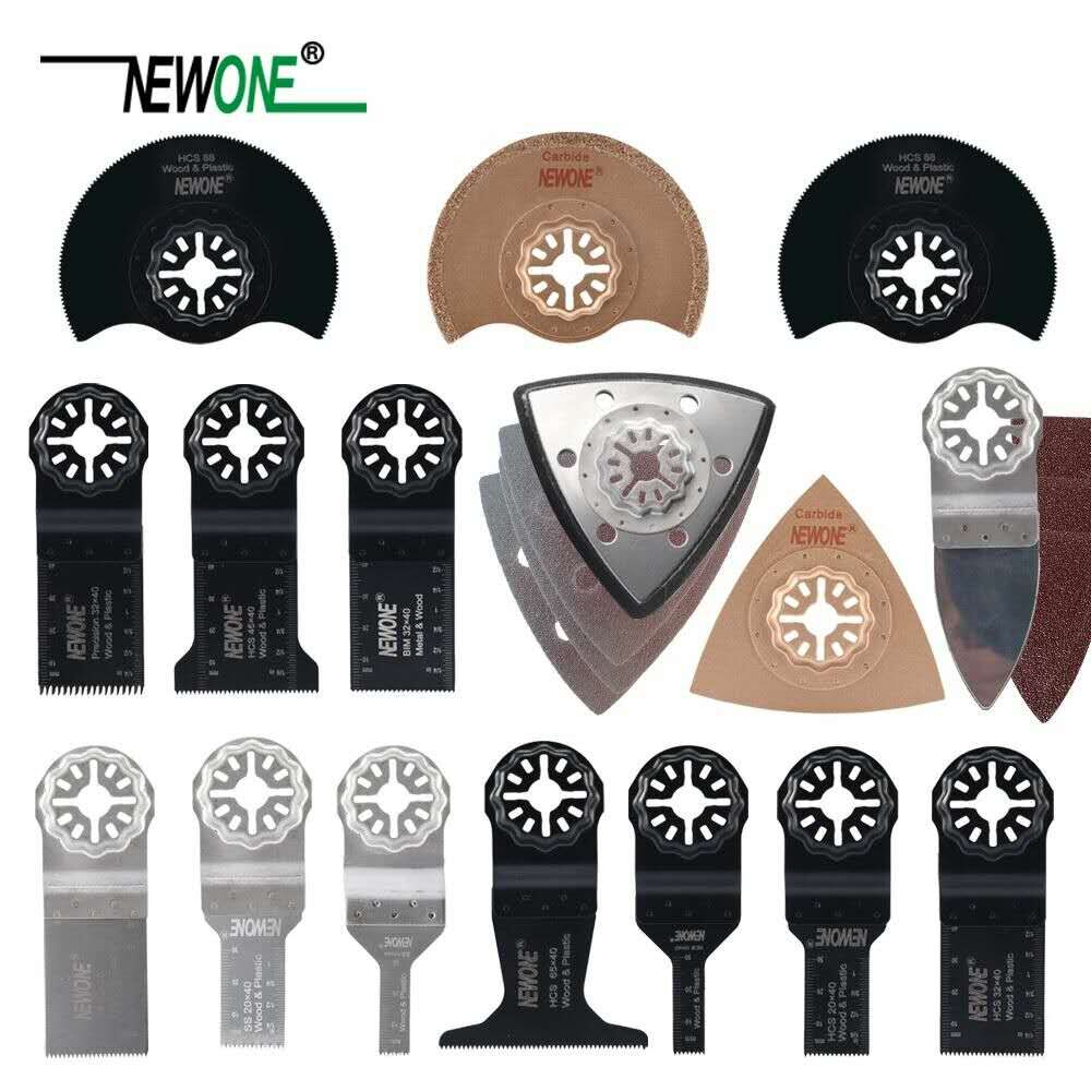 NEWONE 66 Pcs Pack Starlock E-cut Multi Cutter Saw Blades Set Oscillating Tool Blades For Cutting Wood Drywall Plastics Metal