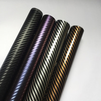 4D Carbon Fiber Film Car Vinyl Tint Wrap Sticker Interior&exterior Decoration Anti UV Mobile Computer 1.52m x10m